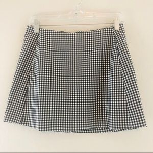 Urban Outfitters Black White Check Mini Skirt NEW
